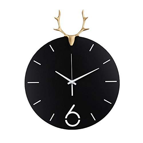 CHANGJ Reloj De ParedReloj Diámetro15 Pulgadas Color NegroEtiqueta De Pared Decoración Ideal para La Casa Oficina Hotel RestauranteLos Relojes De Pared (Size : Black(17 Inches))