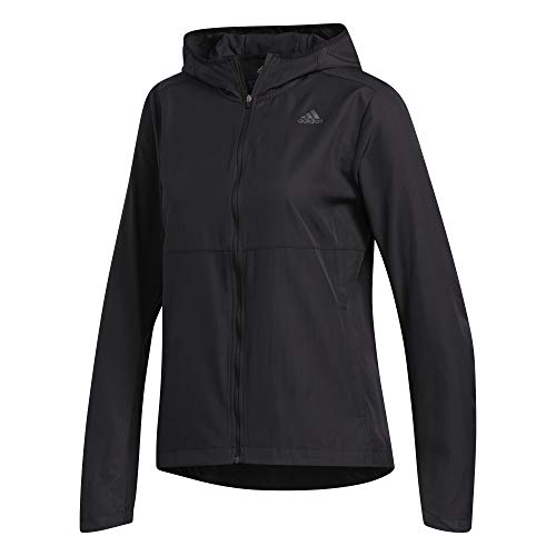 adidas Womens Own The Run Jacket, Black, XS