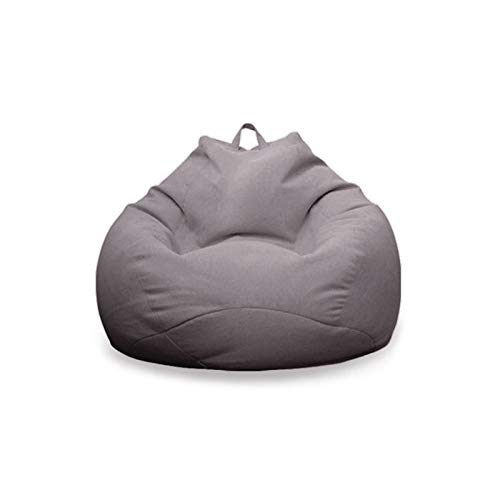 Small Bean Bag Chair, Indoor Living Room Gamer Bean Bags,Outdoor Garden Chair Floor Lounger Cushion 80 X 90 CM (Color : Dark gray, Size : 80 * 90CM)