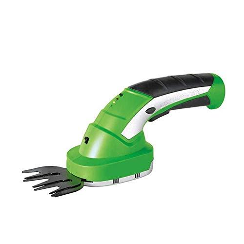 Yiyu Handgehaltene Trimmer, Heckenschere Cordless, 7,2V 2-In-1 Akku-Rasenschere, Auswechselbare Klingen, Teleskopgriffe Und Rädchen Atthments x (Color : Green)