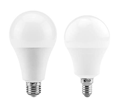 Lyjun LED E27 LED Lámpara Bombilla E14 AC 220V 230V 240V 3W 6W 9W 12W 15W 18W 20W LED Lámpara De Mesa De Proyector LED (Color : Cold White, Emitting Color : E27 20W 220V)