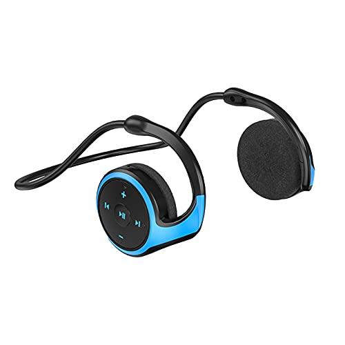 C-LARSS A23 TWS Bluetooth 5.0 Auriculares Inalámbricos Radio FM Tarjeta TF Auriculares Deportivos Estéreo Gancho para La Oreja para Android Azul