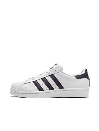 adidas Superstar, Women's Gymnastics Shoes, White (Ftwr White/Legend Purple/Core Black), 4 UK