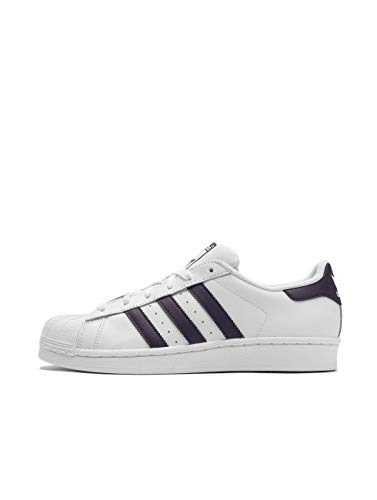 adidas Damen Superstar W Gymnastikschuhe, Weiß (Ftwr White/Legend Purple/Core Black Ftwr White/Legend Purple/Core Black), 38 EU