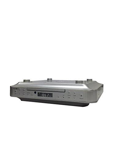 Reflexion CLR-2910 Unterbauradio Küche mit CD-Player, USB und Küchen-Timer (PLL UKW-Tuner, MP3, AUX, Fernbedienung, Montage-Kit), silber