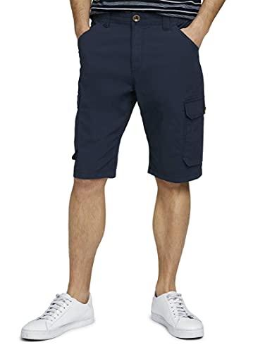 TOM TAILOR Herren 1026090 Josh Slim Cargo Bermuda Shorts, 10932-Sailor Blue, 3XL