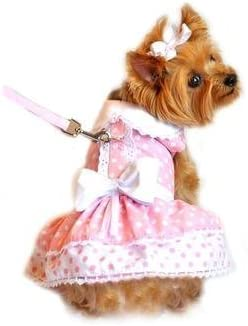 dog clothes dog clothing Pink Harness Dress XS size Size xs