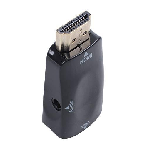 Noblik HDMI naar VGA Converter Verguld met 3.5mm audio kabel voor PC, Laptop, DVD, Desktop, TV box of andere HDMI input apparaten - Zwart