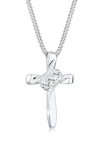 Elli Halskette Damen Kreuz Religion mit Swarovski® Kristalle in 925 Sterling Silber