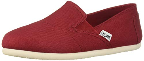 TOMS Women's Redondo Loafer Flat red oxford 7 B...