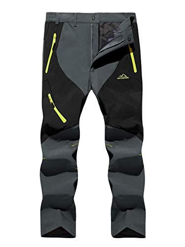 TACVASEN Männer Waterproof Trouseres Outdoor Pants Freizeithose Walking Sommer Hose, Dunkelgrau
