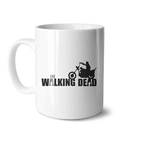 N\A azas de cerámica Blancas de The Walking Dead Daryl Dixon adecuadas para Amigos Tazas de Moda de Gran tamaño