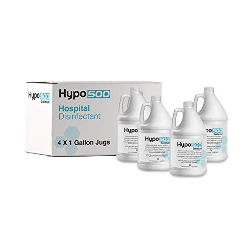 Hypo 500 Hypochlorous Acid 500 PPM, All Natural Professional Surface Cleaner, for Home Use, Medical and Dental Offices, Gyms and Schools (128 Fl Oz (Pack of 4))