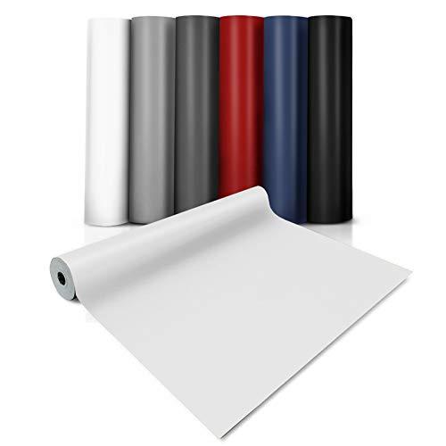 casa pura Pavimenti in PVC Rotoli - Pavimento Vinilico Anti-Abrasione con Base Schiumata per Bagno e Cucina | 200 x 200 cm - Bianco