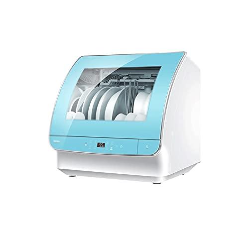 Sdesign Lavavajillas para el hogar, Totalmente automático e Independiente, 72 ° C de cocción y Lavado de Alta Temperatura Continua, tamaño pequeño y Gran Capacidad, 3 Capas de Filtro