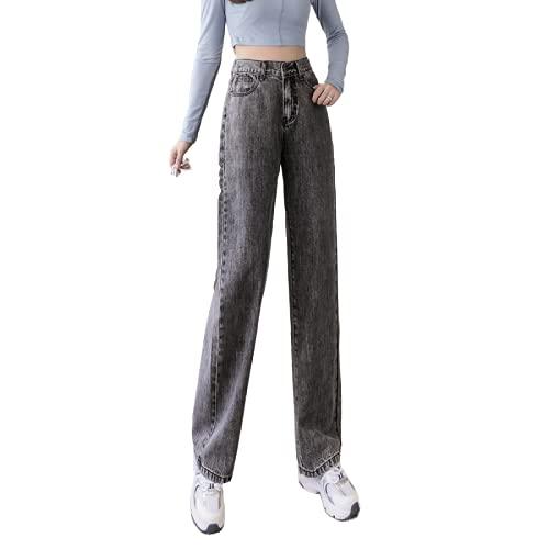 Pantalones Vaqueros Casuales para Mujer, Lavado a la Piedra, Adelgaza instantáneamente, Cintura Alta, Pierna...