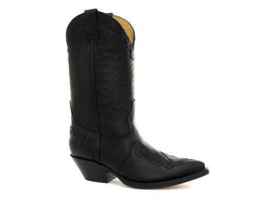 Grinders Arizona Black Mens Cowboy Boots Size UK 10
