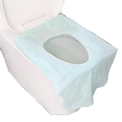 LWGY Carta Igienica Monouso Impermeabile da Viaggio da Viaggio da Bagno da Viaggio (40 Pezzi, Blu) da Viaggio Portatile Pieghevole Vasino da Allenamento Sedile Coprisedile, Tappetino Antiscivolo