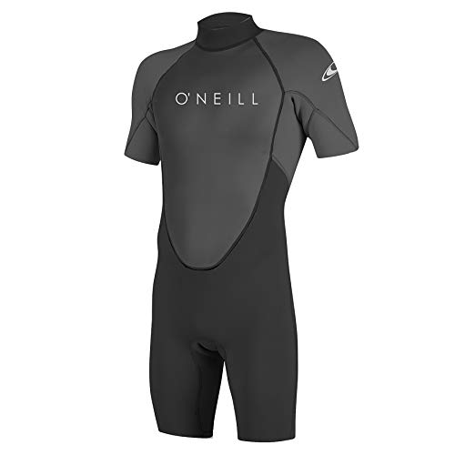 O\'Neill Wetsuits Men\'s Reactor-2 2mm Back Zip Spring Wetsuit, Black/Graphite, 4XL