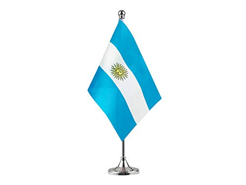 GentleGirl.USA Argentina Flag Argentine Flag Table Flag,Desk Flag,Office Flag,International World Country Flags Banners,Festival Events Celebration,Office Decoration,Desk,Home Decoration