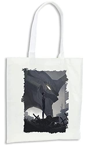 MERCHANDMANIA Pack con 4 Bolsas Evangelion Shinji Ikari Mecha Compra Cocina Adorno
