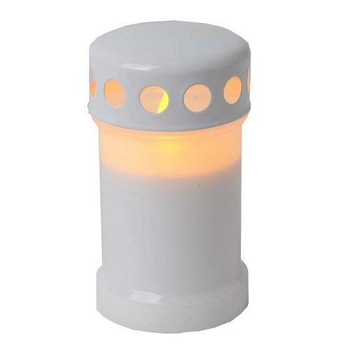 Star Bougie LED, flamme vacillante couleur : blanc, 14 x 8 cm longue durée de vie boîte de quatre couleurs avec,
