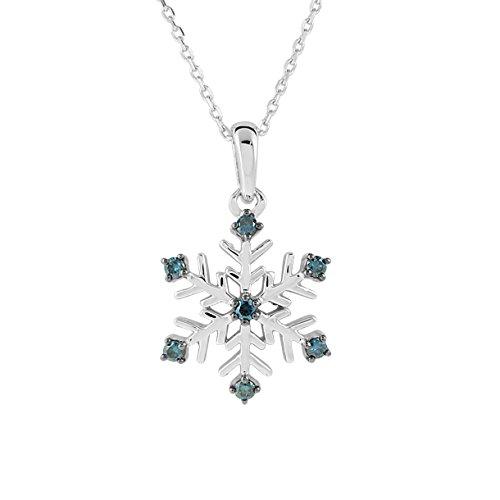 Diamond Line Damen - Halskette 375er Gold 7 Diamanten ca. 0,10 ct., weißgold