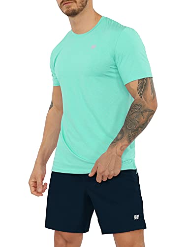 ODODOS Men's Short Sleeve Performance Cooling T-Shirt Quick Dry Athletic Tee Shirts Running Gym Workout Training Tops, Mint Green, X-Large