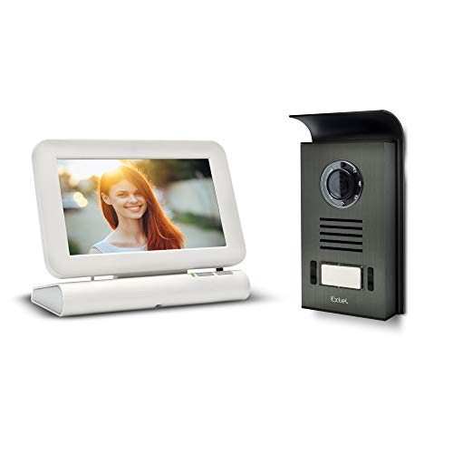 Extel 720278 Videoportero inalámbrico a Color, Blanco