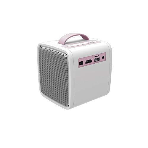 LWX Hogar Portátil Mini Proyector Portátil 1080 Proyector Niños Proyector Es Compatible con HD 1080P (Color : Pink)