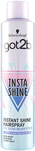 Got2B Insta-Shine Lacca per Capelli, Effetto Lucentezza a Lunga Durata, 300 ml
