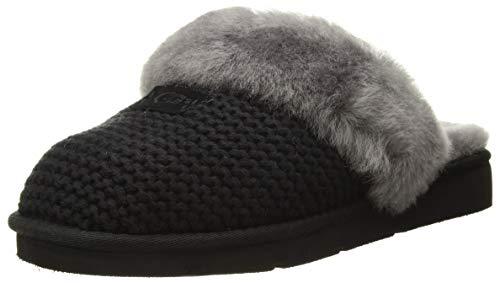 UGG Cozy Knit Slipper, Schwarz - Grau, 40 EU