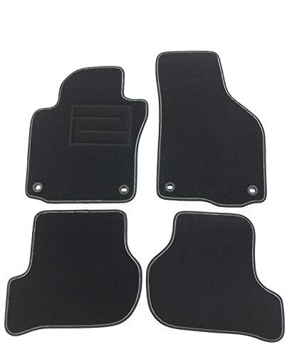 ASC - Alfombrillas para coche con logo bordado y autoblock ovalado