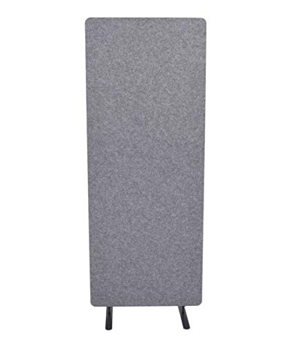 "ReFocus Raw Freestanding Acoustic Room Divider – Reduce Noise and Visual Distractions with This Lightweight Room Separator (Castle Gray, 24"" X 62"")"