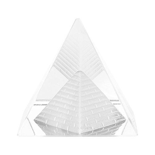 Pirámide de cristal para la decoración del hogar de escritorio Ornamento de cristal transparente de Egipto