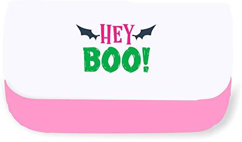 Hey Boo Bats Halloween Statement Clutch-Style Pencil case - Pink