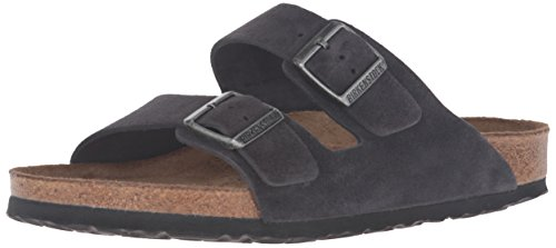 Birkenstock Unisex Arizona Velvet Gray Sandals - 36 N EU / 5-5.5 2A(N) US