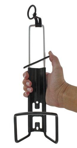 M-Wave Trinkflaschenhalter, Länge verstellbar, passend für bis zu 1,5 l Flaschen, schwarz
