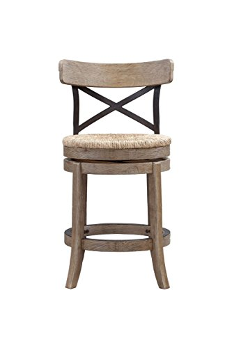 Boraam 76924 Myrtle Counter Height Stool, 24-Inch, Wheat Wire-Brush