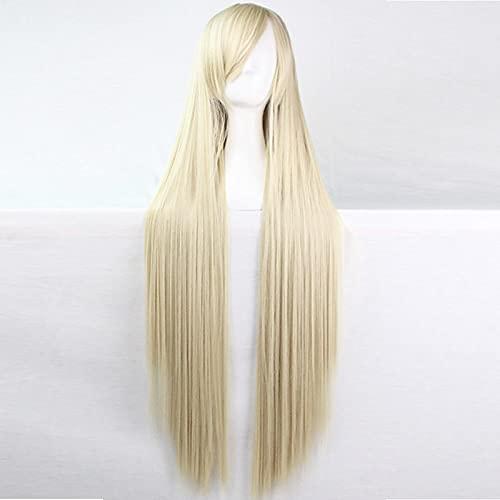 Peluca para disfraz de cosplay Peluca sinttica Peluca de cosplay Recto Kardashian Recto asimtrico Peluca Larga Plata Pelo sinttico Mujer Entradas naturales Plata Blanco