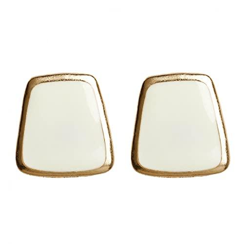 Owenqian Pendientes de botón de corazón para Mujer Regalos de Color Negro Accesorios de joyería de Moda Oreja