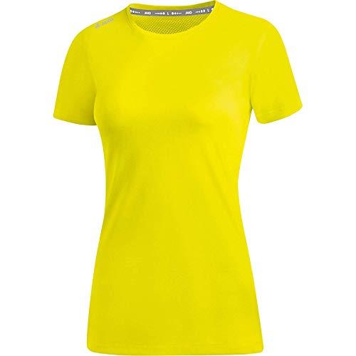JAKO Damen T-Shirt Run 2.0, Neongelb, 38
