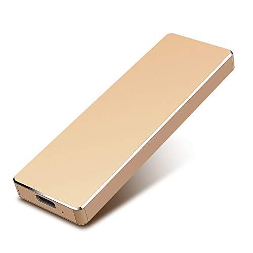 External Hard Drive 1TB, Hard Drive Portable External HDD USB 3.0 for PC Laptop and Mac, High-Performance Storage, 1Year Warranty-1TB,Gold Montana