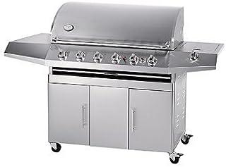 comprar comparacion Parrilla de gas Texas - Cocina en el exterior, Barbacoa, 6 quemadores, de Acero Inoxidable, para el jardín, de Jet-...