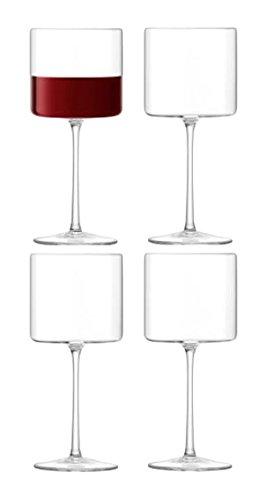 LSA International Rotweinglas Otis, Glas, transparent, 310 ml, 4 Stück