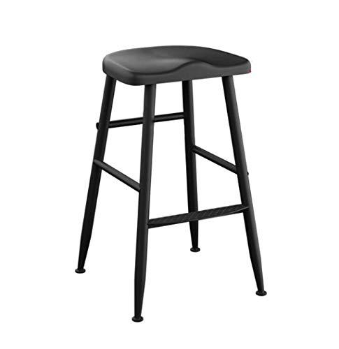 WEHOLY Tabouret de Bar Vintage Chaise de Cuisine de comptoir Petit-déjeuner Tabouret de Bar Tabouret à dossier Haut Convient pour Les chaises familiales et professionnelles (Taille: 40 × 40 × 65 cm)