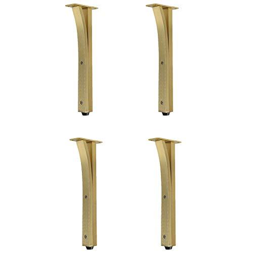 ULOHAN Patas para Muebles Aluminio Aleación Metal 4 PCS Altura Ajustable Patas para Sofas TV Escritorio Cocina, Patas Muebles De Reemplazo, Diseño Ajustable, Proceso De Dibujo (Color : A)