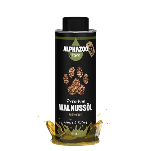 alphazoo Premium Walnussöl für Hunde &...