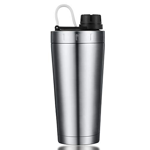 Stainless Steel Shaker Bottle Insulated Dishwasher Safe |100% Leak Proof |Durable Protein Shaker Bottle for Gym Workout Supplements Sports Fitness Travel Office Metal Shaker Bottle