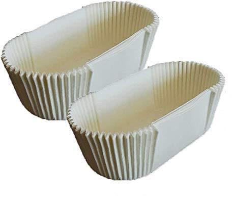 Backblecheinlagen für Brot und Kuchenbrote, Backpapier, fettdicht, Kastenform mit gerader Kante (0,9 kg) (40 Stück)